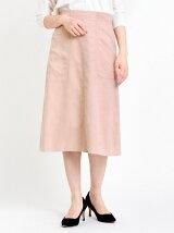 スエード2ポケットAラインスカート