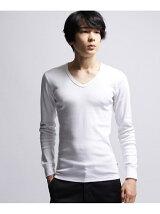 baby rib V necklong t shirt