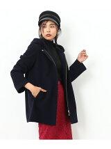 【フード取り外し可能】2WAYミドル丈コート