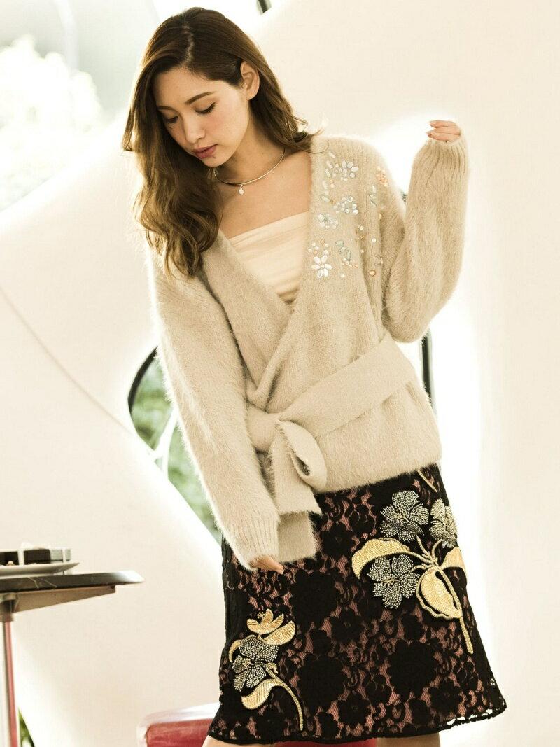 【SALE/30%OFF】Million Carats ビジューフェザーニット[DRESS/ドレス] ミリオンカラッツ ニット【RBA_S】【RBA_E】【送料無料】