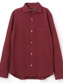 【SALE/30%OFF】HIDEAWAYS NICOLE ホリゾンタルカラーシャツ ニコル シャツ/ブラウス 長袖シャツ レッド ホワイト【送料無料】