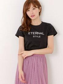 【SALE/10%OFF】パールネックレス付きロゴTシャツ ミッシュ マッシュ カットソー【RBA_S】【RBA_E】【送料無料】