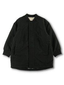 branshes 【WEB限定】裏ボアブルゾン ブランシェス コート/ジャケット ブルゾン ブラック ベージュ カーキ