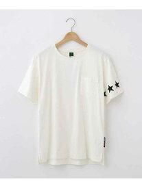 【SALE/30%OFF】BASECONTROL スターラインTシャツ ベース ステーション カットソー Tシャツ ホワイト ブラック ピンク ブルー ネイビー