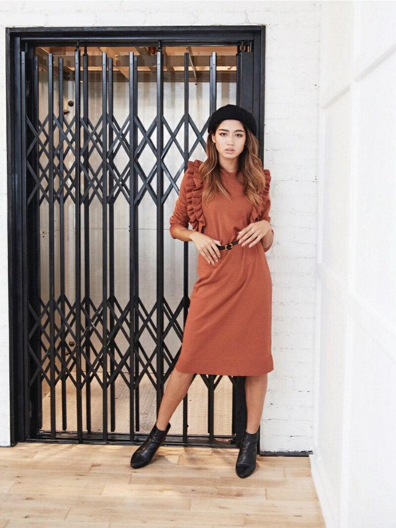 Million Carats フリルニットワンピース[DRESS/ドレス] ミリオンカラッツ ワンピース【送料無料】