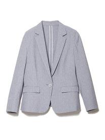 【SALE/50%OFF】CLEAR IMPRESSION サマーシャンブレージャケット クリアインプレッション コート/ジャケット テーラードジャケット ブルー ベージュ【送料無料】