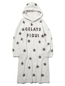 gelato pique スタージャガードドレス ジェラートピケ インナー/ナイトウェア ルームウェア/その他 ホワイト ネイビー【送料無料】