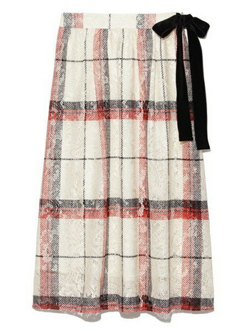 【SALE/45%OFF】Lily Brown チェックプリントラップスカート リリーブラウン スカート【RBA_S】【RBA_E】【送料無料】
