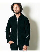 GOAT SUEDE LEATHER SINGLE RIDERS JKT