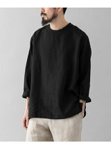 BRAIN linen long sleeve pullover