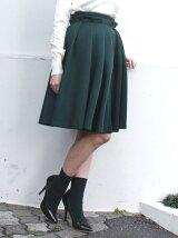*【CHIC】タックフレアボンディングスカート