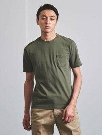 UNITED ARROWS <tsuki.s(ツキドットエス)>テンジククルーネックTEE ユナイテッドアローズ カットソー Tシャツ カーキ パープル【送料無料】