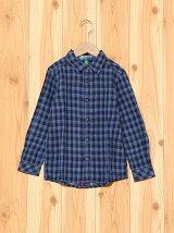 (K)KIDSダブルフェイスチェックシャツ・ブラウス