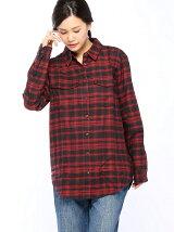 (W)チェックオーバーサイズシャツ