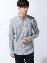 (M)刺繍デザインL/Sシャツ
