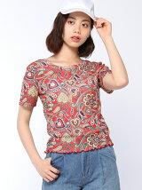 【BROWNY STANDARD】(L)2WAY総柄ショートTシャツ