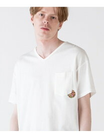 rehacer Flower coin pocket T レアセル カットソー