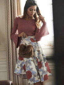 【SALE/30%OFF】Million Carats noranoel retro flowerスカート[DRESS/ドレス] ミリオンカラッツ アウトレット スカート フレアスカート ホワイト ブラック【送料無料】
