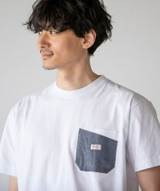 coen 【WEB限定カラー】SMITH'S(スミス)別注ポケットTシャツ(21SS)# コーエン カットソー Tシャツ ホワイト ブラック ベージュ レッド