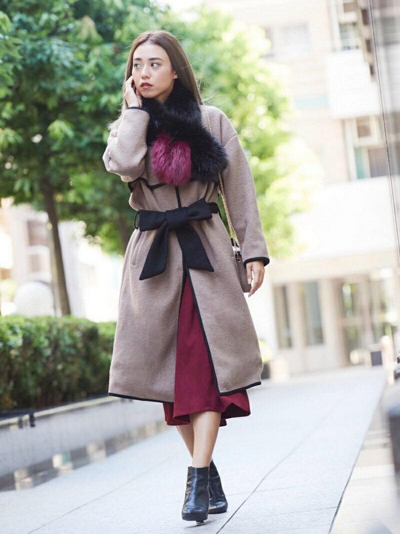 Million Carats バイカラーパイピングコート[DRESS/ドレス] ミリオンカラッツ コート/ジャケット【送料無料】