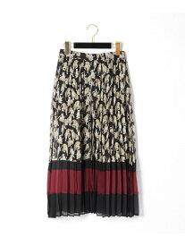GRACE CONTINENTAL レオパードプリントプリーツスカート グレースコンチネンタル スカート【送料無料】