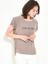 ラウンドカットプリントTシャツ