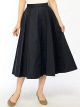 ENNEA スカート/(W)ギャバ素材ミモレ丈スカート