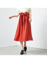 フロントギャザーウールスカート【予約】