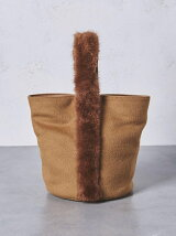UBCS ミンクハンドル バケットバッグ