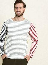(M)吸水速乾 ロングスリーブバスクボーダーTシャツ