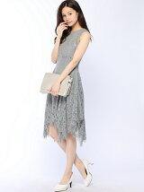 グレーレースドレス