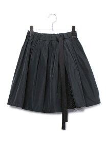 【SALE/80%OFF】ROPE' グログランオーバースカート ロペ スカート スカートその他 ブラック【送料無料】