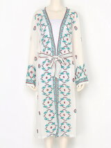 Embroidery Long Gown