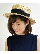 花刺繍カンカン帽