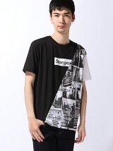【JUNIOR SWEET】(M)フォト総柄切替プリントTシャツ