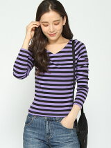 V-NECK STRIPED TOP