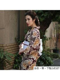 ホンコンマダム 紫陽花 ホンコンマダム ビジネス/フォーマル 着物/浴衣 レッド【送料無料】