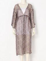 Silk Print Gown