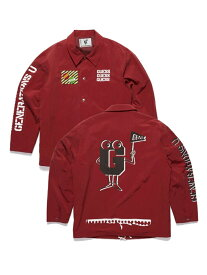 GUESS [GENERATIONS] COACH JACKET ゲス コート/ジャケット コート/ジャケットその他 レッド【送料無料】