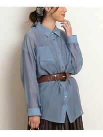 【SALE/57%OFF】frames RAY CASSIN シースルーオーバーサイズシャツ レイカズン シャツ/ブラウス 長袖シャツ ブルー ブラウン グレー