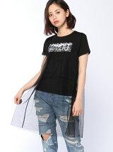 【JUNIOR SWEET】(L)ロングチュールレイヤードT