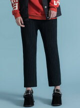 MIXED COLOR KNIT TROUSERS