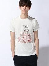 (M)デザイン半袖コットンTシャツ