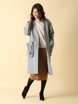 【INED25周年記念】ファーポケットカラーレスコート《PONTETORTO》【CLUEL12月号掲載】