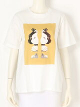 Modern catプリントTシャツ