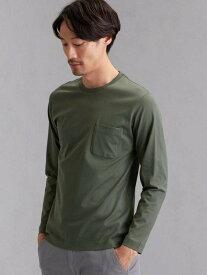 UNITED ARROWS green label relaxing CMオーガニッククリアクルー長袖Tシャツ ユナイテッドアローズ グリーンレーベルリラクシング カットソー Tシャツ カーキ ホワイト ブラック ベージュ レッド