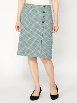 (W)【BANANA REPUBLIC FACTORY STORE】JPN TATTERSALL TIGHT SKIRT