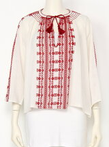 Smocking Embroidery Blouse