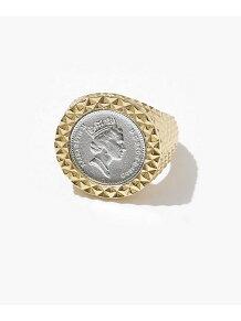 Diamond Cut Coin Ring