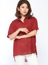 ギンガム2WAYシャツ